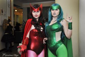 Polaris And Scarlet Witch by felicia2809