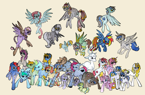 My Little Pony: Art For Michael Mural 2 by kernal-flob