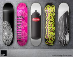 Signature Skateboards by VisionHaus