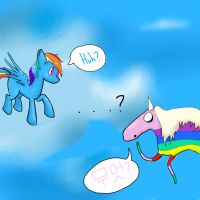 Lady Rainicorn meets Dashie by ZombieChocoCherry