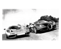 Mclaren F1 vs Bugatti Veyron by david10072