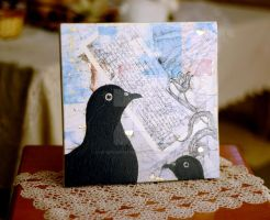 BLACK BIRDS - MIXED MEDIA ART by ArtByKostasTsipos