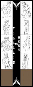 CR - WIP - Villain VS Hero by Paleblood