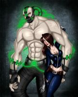 Bane and Talia by TroubleTrain