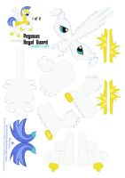 Pegasus Pony Guard 1 of 2 by Kna