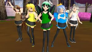 MMD Newcomers Five Faeries + DL by CrimsonKingie