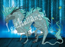 Blue Attitude Dragon by LostHellAngel