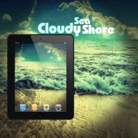 iPad CloudySeaShore Wallpaper by Martz90