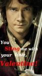 VALENTINES CARD- Bilbo by BabysbBUM