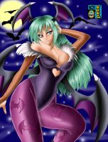 Morrigan Colored by onyxrayne