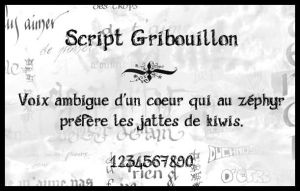 Script Gribouillon by Holyrose