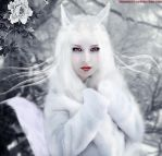 Arctic fox by Sophie-Y