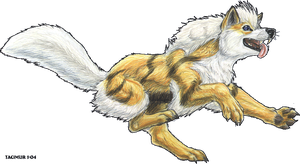 bouncy Arcanine 2004 by Tacimur
