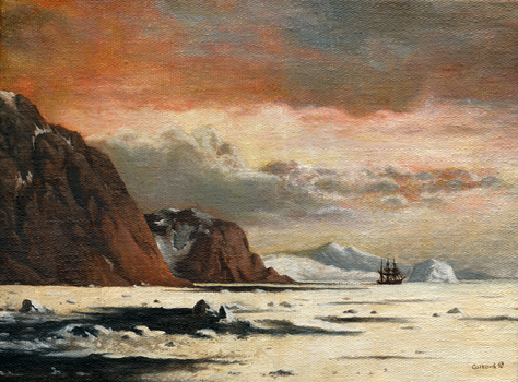 Seascape with icebergs by Dragarta