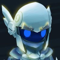 SK - Frosty Angelic Helm by GalaxyInvader