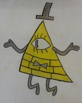 Bill Cipher (Color) by Valora390