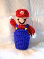 Super Mario by knerdy-knits