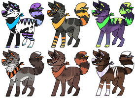 Mawtail Dog Adoptables [1/6 Open ] by Mulch-Adopts