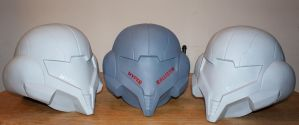 Samus Helmets unfinished by Hyperballistik