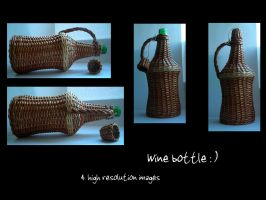 Wine bottle by Mithgariel-stock