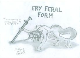 Ery's Feral form by lostwolfen