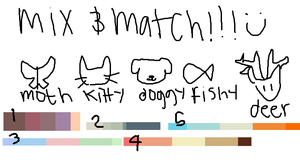 mixnmatch adopts!! by kittenslobber