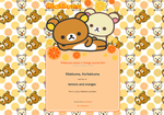 Rilakkuma Lemon n' Orange - Journal skin by anineko