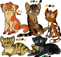 Adopt these Kitties~!(2) by DarkWolfiez