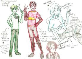 Hetalia Potter Sketches by Alexiel-VIII