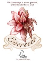 Amaryllis Tattoo Commission by Wolf-Daughter