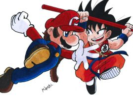 Mario Vs Goku by MikeES