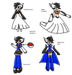 Ebony The Gardevoir Outfits by LunaSurge