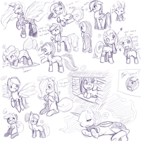 Pony Request Sketches by PonySocialExperiment