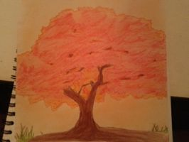 Red Tree by crocrus