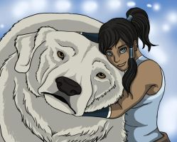 Korra and Naga by Thyria