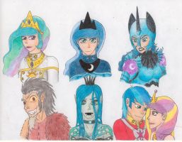 MLP:FIM Humanized Equestrian Royalty by tod309