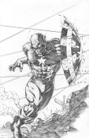 CAPTAIN AMERICA Pencils by RudyVasquez