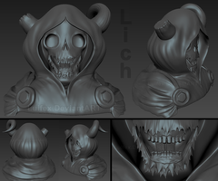 Lich - Sculpture WIP by Luifex