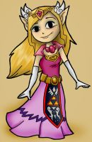 Princess Zelda by INeedMyCoffee