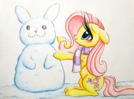 Fluttershy's Snow Day by PrettyPinkP0ny