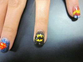 Batman Ring Finger by sharpnailart