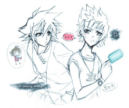 Why Hello There Roxas. by cuddle-meee
