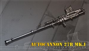 Aviation Autocannon 27Rmk.1 by Shrinecat