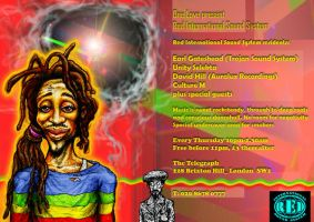 One Love reggae club flyer 2 by mORGANICo-cOM