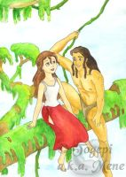 Disney - Jane + Tarzan jungle by mene