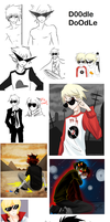 Homestuck doodles by Timeless-Knight