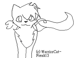 Walking She-Cat LineArt by WarriorCatFreak13