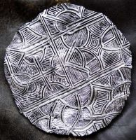 Dreamtime - Ceramic Discus 1 silver small by ArtGenEeRing