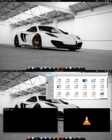 Arch KDE BE::SHELL Quick Shot by CraazyT