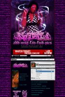 Njema Myspace Layout by GrahamPhisherDotCom